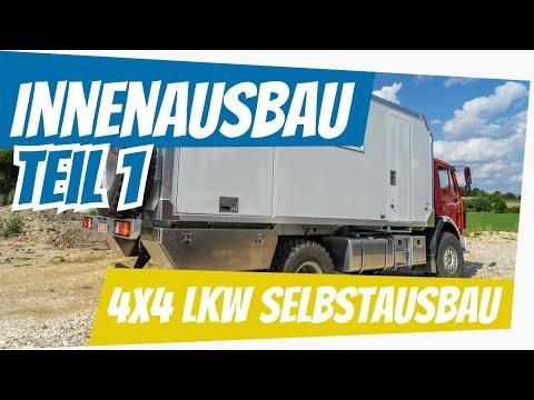 Allrad Lkw Selbstausbau: Innenausbau Teil 1 - Wohnkabine, Möbelbau, Technik