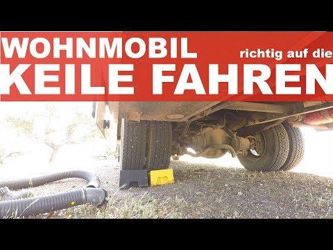 Auffahrkeil Wohnmobil - Richtig auf Keile fahren - Anleitung HD