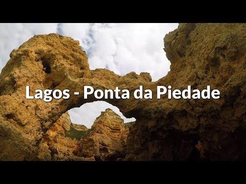 Ponta da Piedade in Lagos (Algarve - Portugal) | 4K