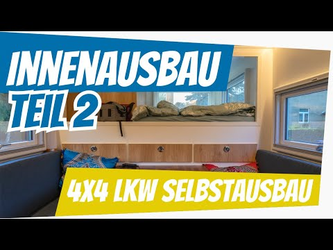Allrad Wohnmobil Selbstausbau: Innenausbau Teil 2 & Lackierung