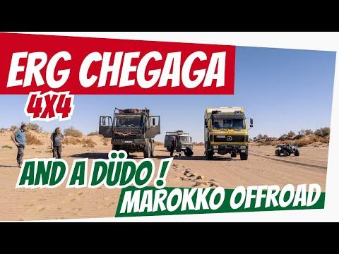 Offroad mit Mercedes, Steyr + Düdo: M'hamid, Wadi Draa bis Erg Chegaga | Roadtrip Marokko 2020