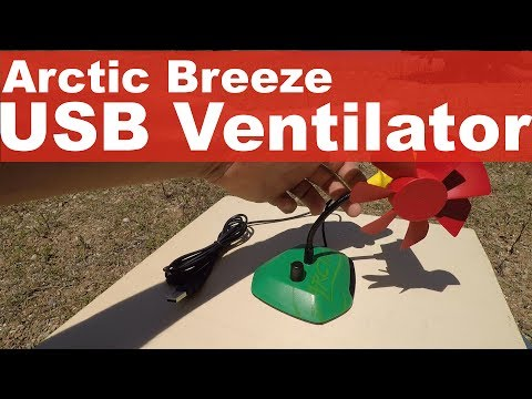USB Ventilator Arctic Breeze - REGELBAR - Lautstärke Test