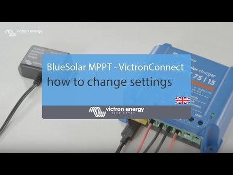 BlueSolar MPPT - VictronConnect: How to change settings | Victron Energy