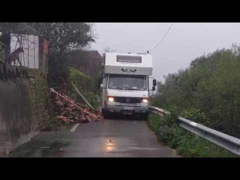 Erdrutsch an der Algarve