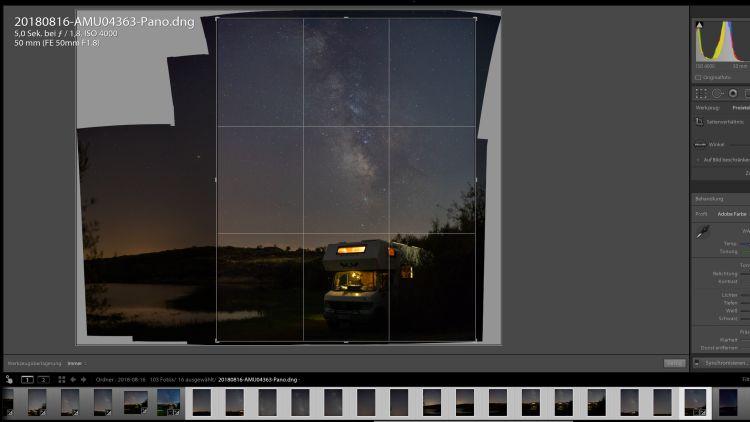 Festbrennweite 50mm Panorama erstellen