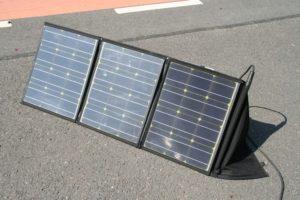 Solarfaltmodul mit Aufstellfuß