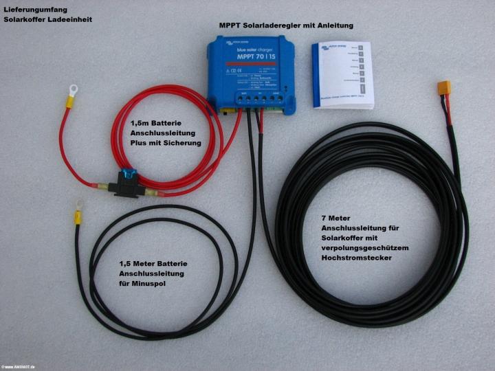 Kabelsatz für Solarkoffer und Solarladeregler