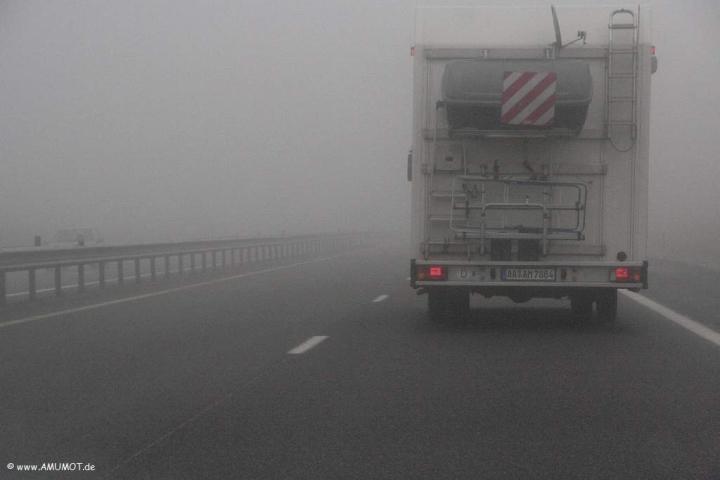 Nebel auf der A75