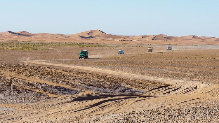 Wir verlassen die Sandwüste