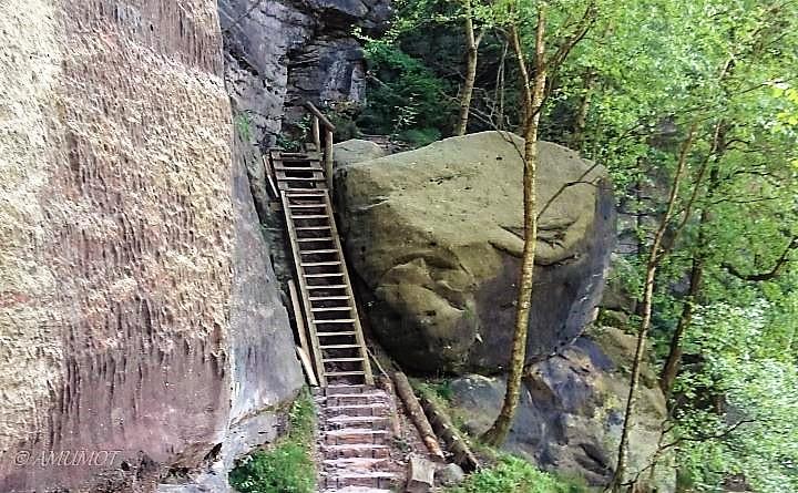 treppen im elbsandsteingebirge