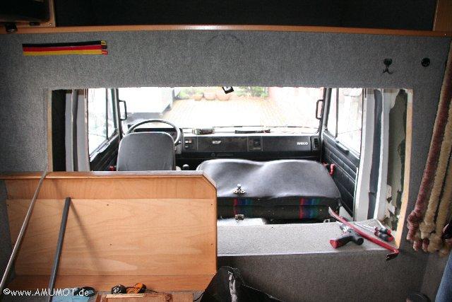Alkovenwohnmobil LKW ohne Trennwand