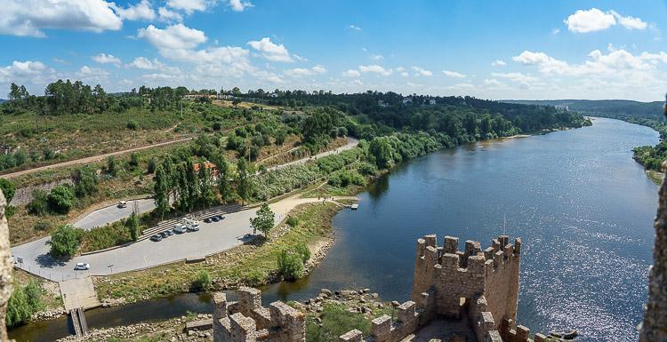 Ausblick über den Tejo vom Castelo Almourol