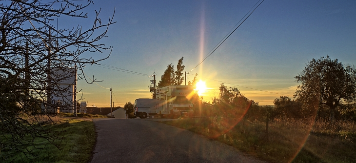 Sonnenaufgang über dem Alentejo