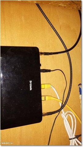 SMA Schraubanschluss am Router