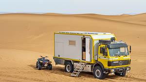 Yamaha Kodiak in der Sahara