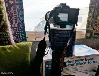 Kamera Aufbau für Zeitraffer