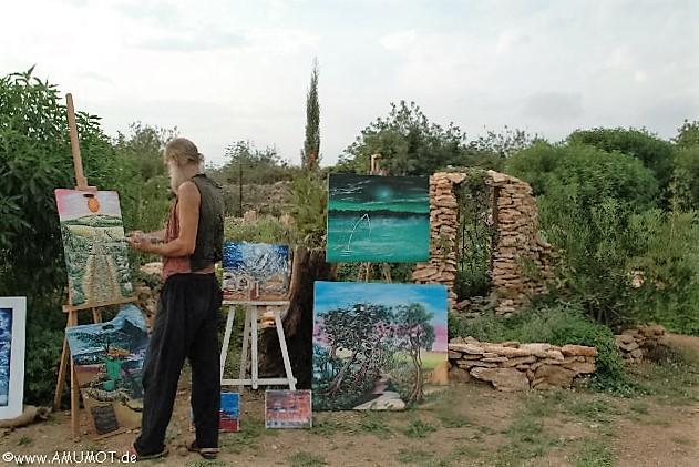 Maler bei der arbeit
