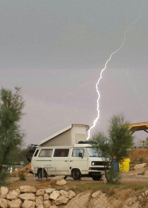 Blitz in wohnmobil