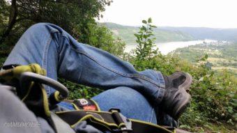 Ausblick vom Klettersteig Boppard