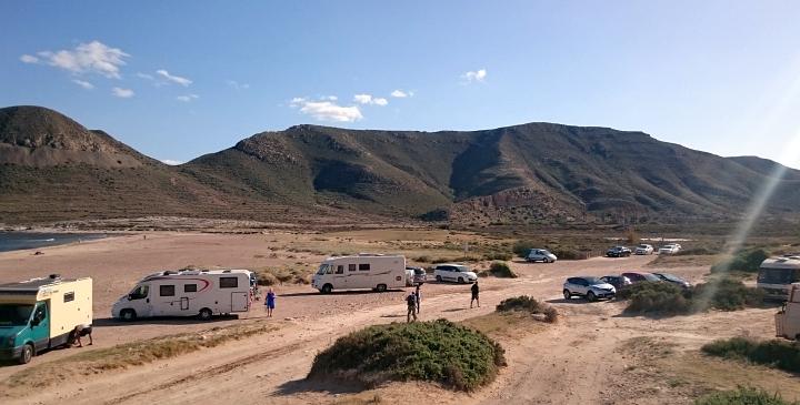 Freistehplatz am Cabo de Gata