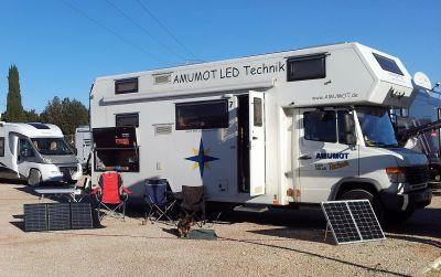 Faltmodul und Solarkoffer zusammen