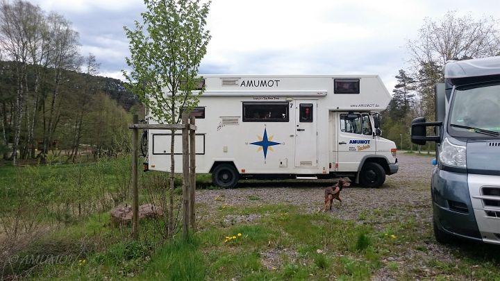 Parkplatz für Wohnmobile am Dahner Felsenland