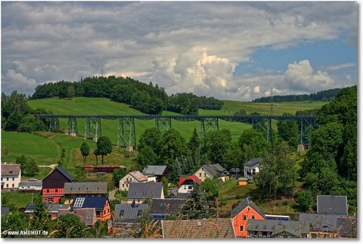 Eisenbahn Stahlbrücke Erzgebirge