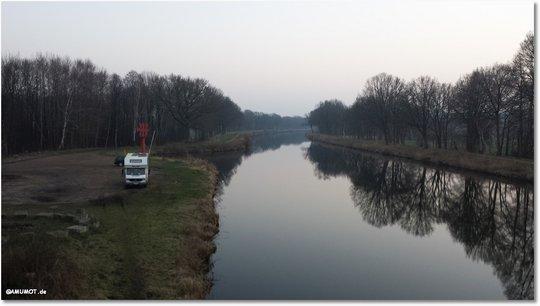 Freistehen am Kanal