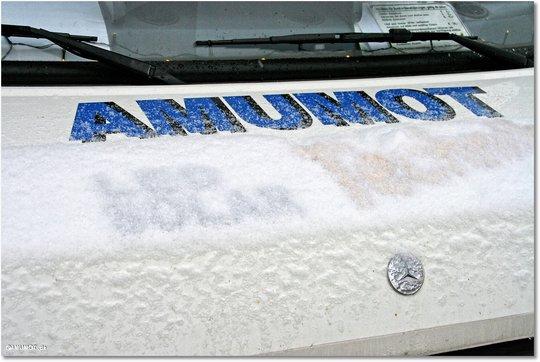 Schnee auf dem Wohnmobil