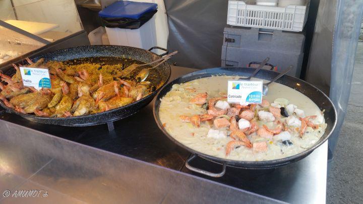 Allerlei leckeres beim Markttag in Carnac