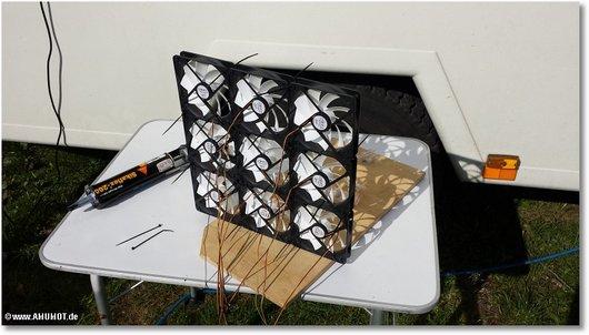 9 PC Lüfter zusammen kleben