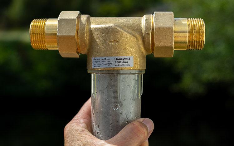 rückspülbarer Wasserfilter 25 Mikron