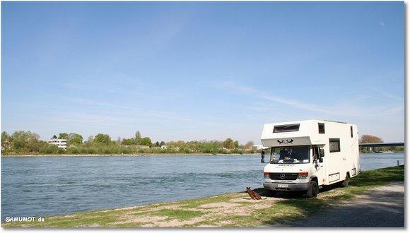 Rhein freistehen mit dem wohnmobil
