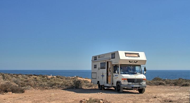 Mein Stellplatz an der Küste in spanien