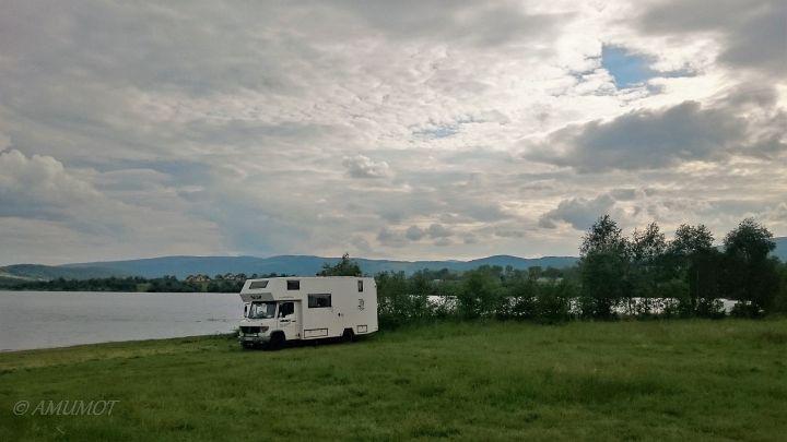 Und wieder ein Freistehplatz am See in polen