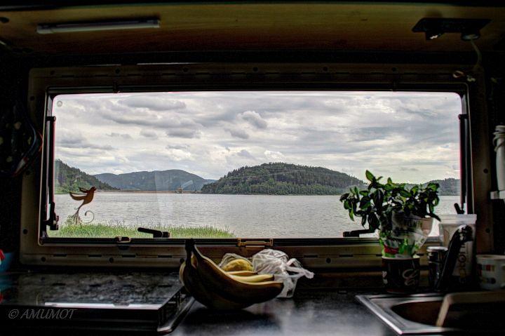 So gefällt mir Polen - Seeblick aus dem Küchenfenster