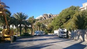 Unser Übernachtungsplatz La Herradura Spanien