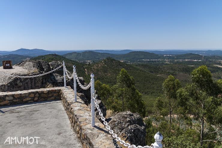 Ausblick vom Centro Geodésico de Portugal