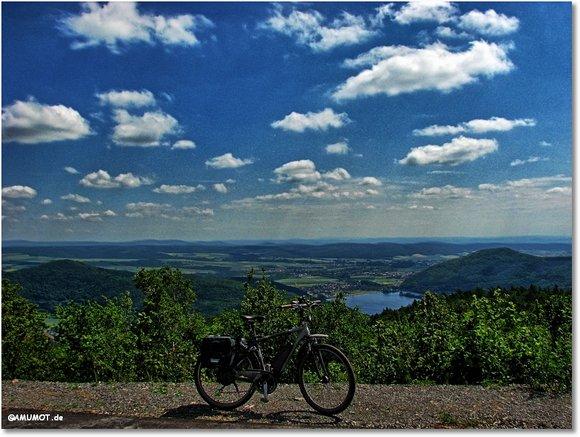 Mit dem Fahrrad auf dem Peterskopf