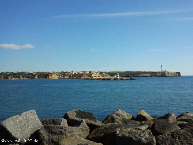 Hafenmole in portimao