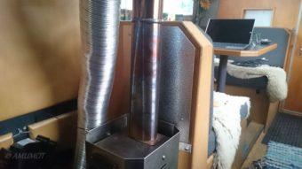 Neues Hitzeschutzblech für den Holzofen