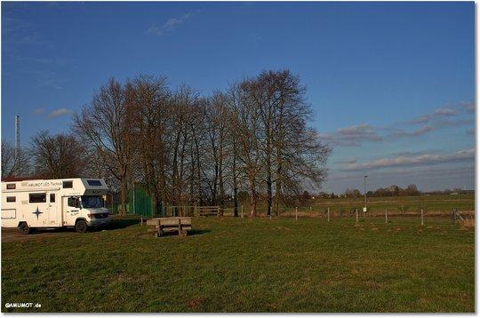 Stellplatz an der Weser in Hoya
