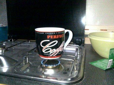 Kaffeetasse auf dem Herd