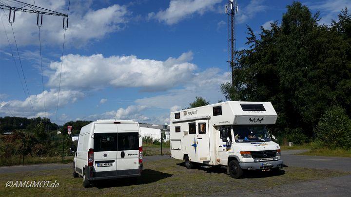 Unser heutiger Stellplatz irgendwo im Westerwald.