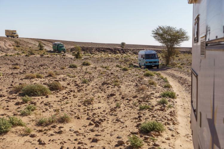 Konvoi durch Marokko