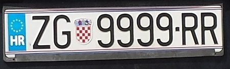EU Kennzeichen kroatien
