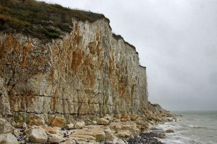Kreidefelsen an der Küste in Criel-Sur-Mer