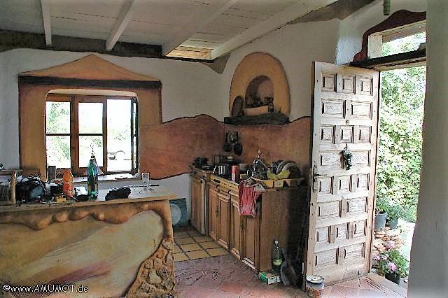 küche im Lehmhaus