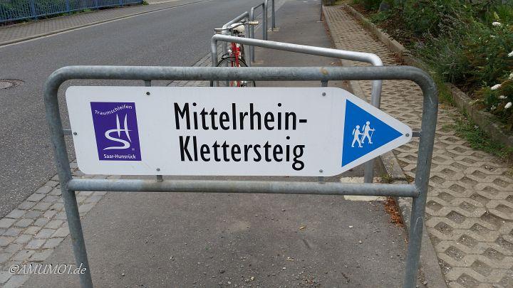 Wegweiser Klettersteig Boppard