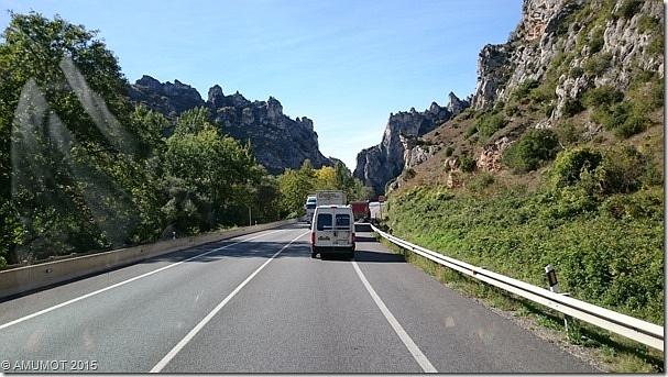 Die N1 in Spanien, sehr schöne Gegend